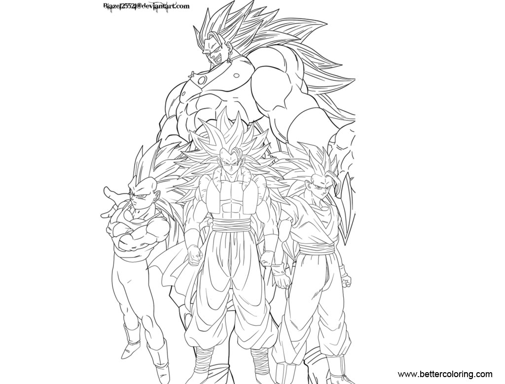 Dragon Ball Super Coloring Pages Fantasy Fight - Free Printable ...