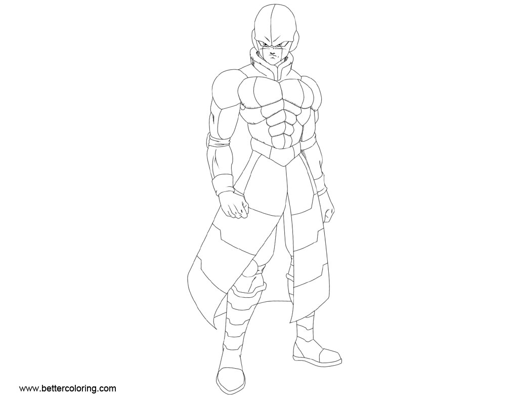 Free Dragon Ball Super Coloring Pages Hit printable