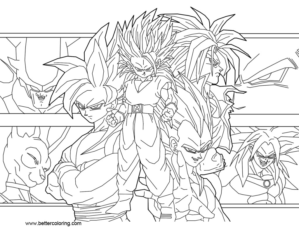 Dragon Ball Super Coloring Pages by guitar6god - Free ...