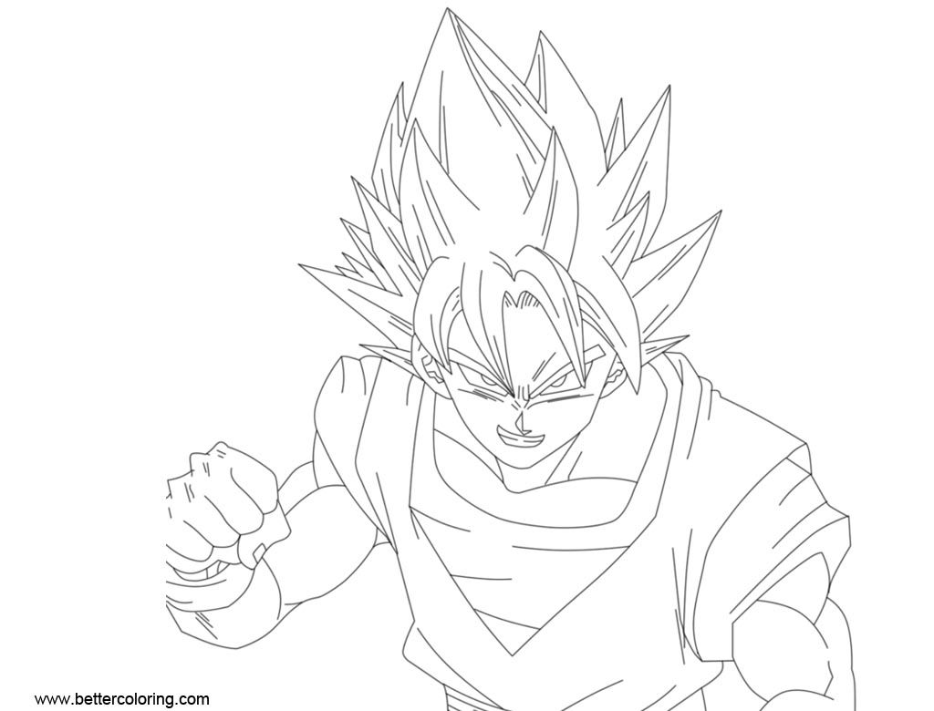 Dragon Ball Super Coloring Pages by minatobijuu - Free Printable ...