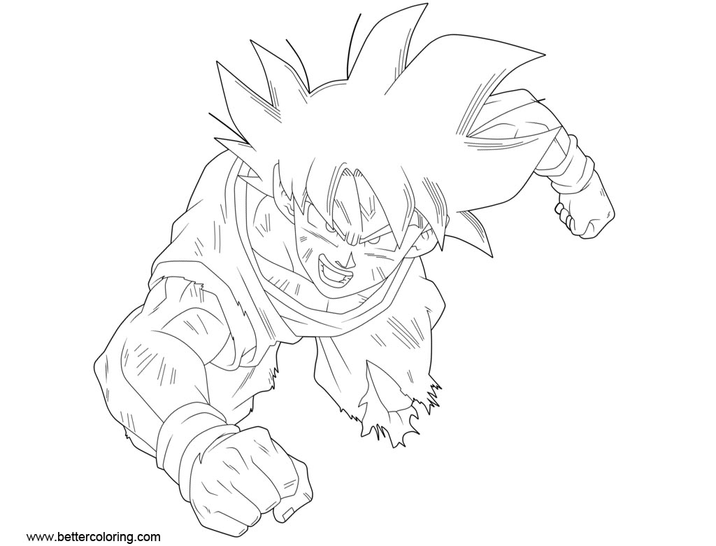 Free Dragon Ball Super Coloring Pages by victormontecinos printable