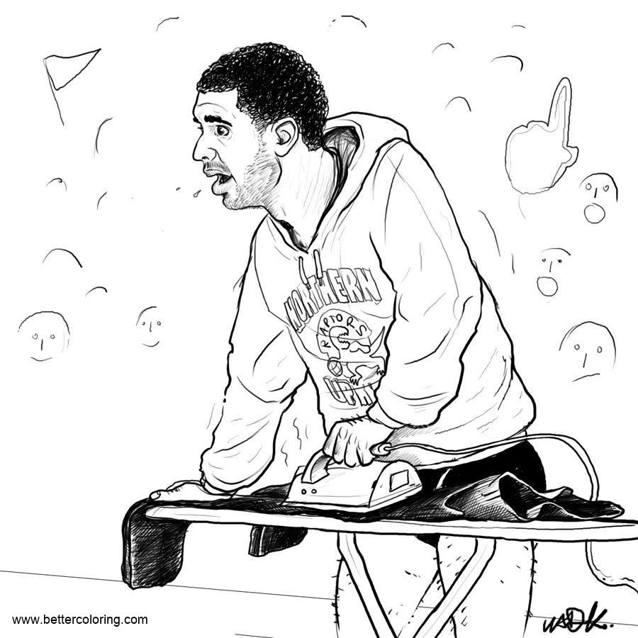 Free Drake Coloring Pages Drake being Drake by torontoraptors printable