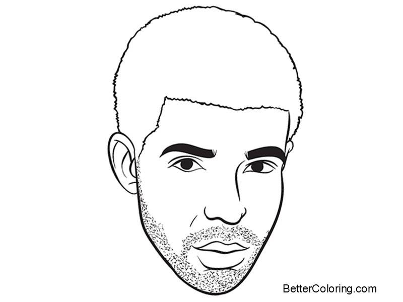 Drake Coloring Pages Face Drawing - Free Printable ...