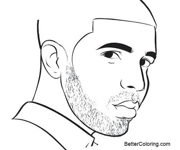 Drake coloring pages line drawing free printable for Drake coloring pages