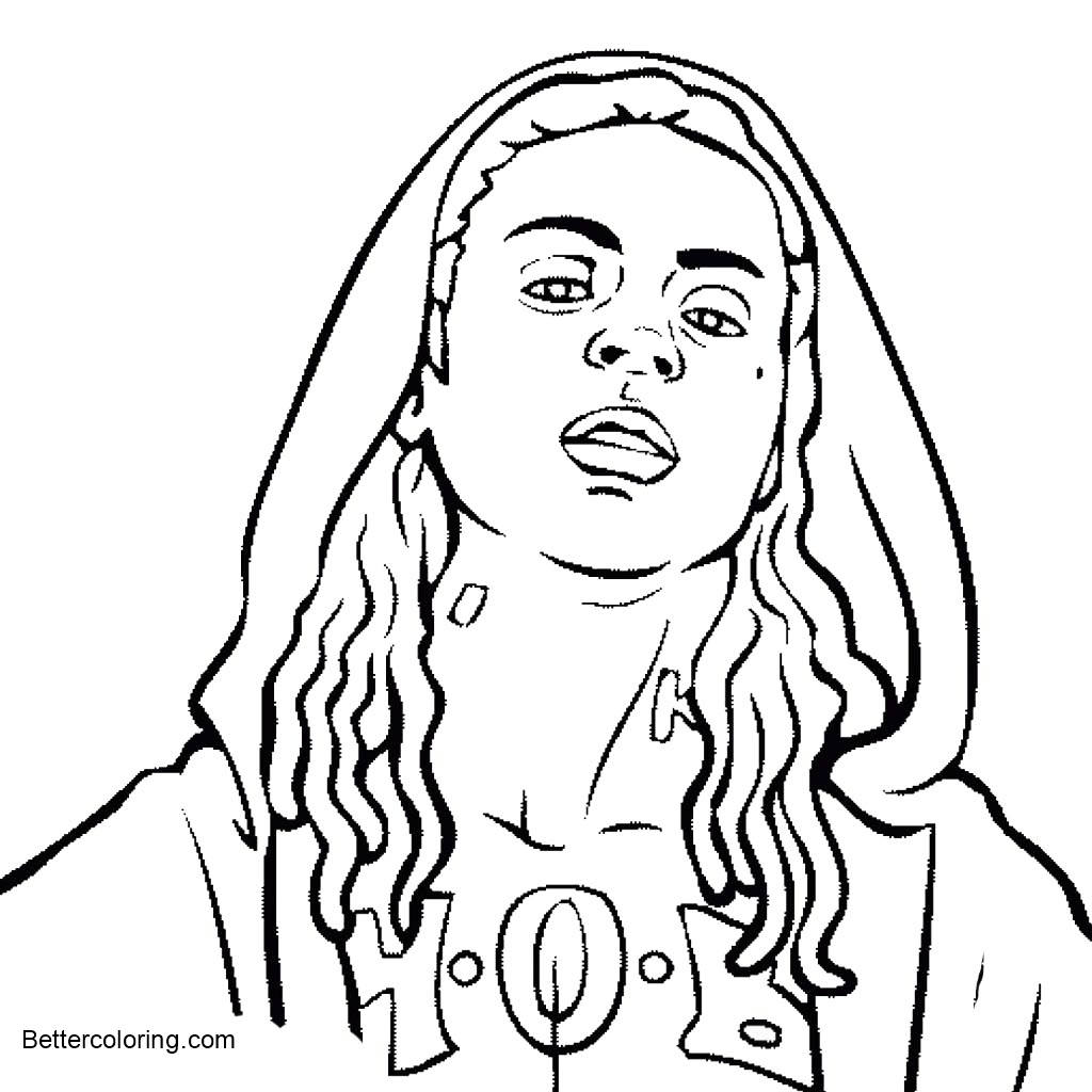 Free Drake Coloring Pages Long Hair printable