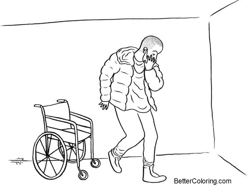 Free Drake Coloring Pages Wheelchair printable