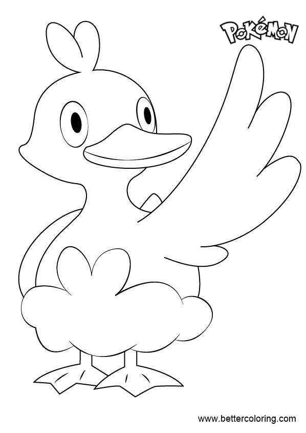 Free Ducklett from Pokemon Coloring Pages printable