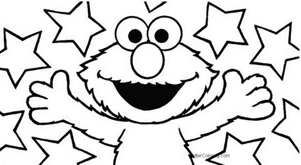 Elmo Coloring Pages Black and White - Free Printable Coloring Pages
