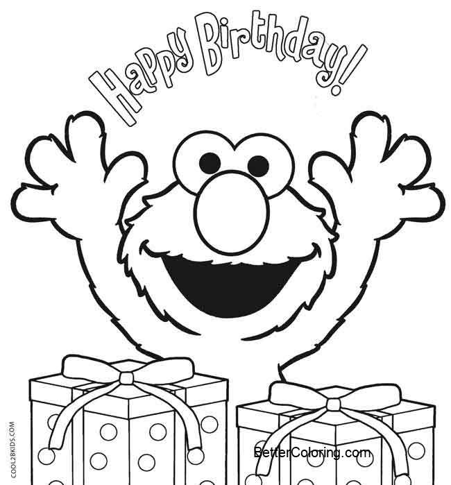 elmo coloring pages happy birthday free printable coloring pages