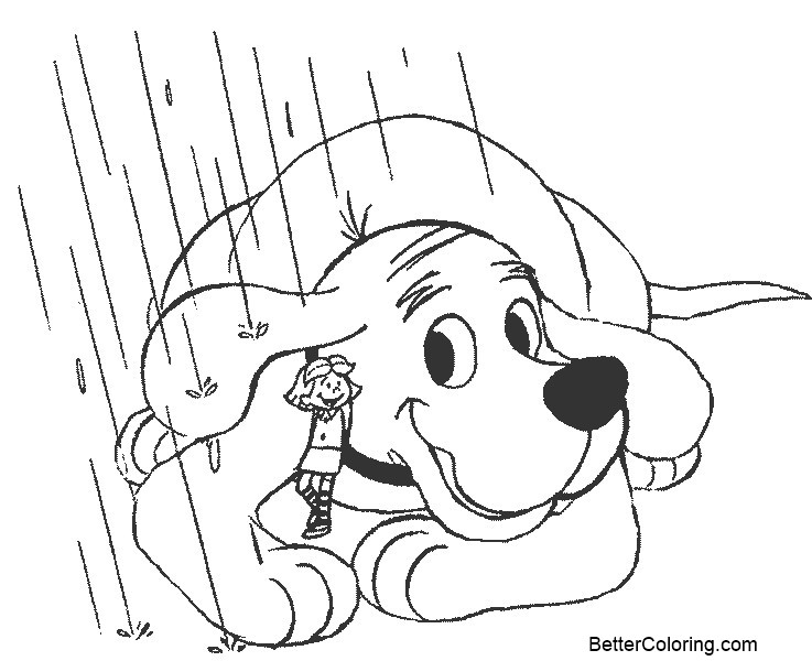 Free Emily from Clifford Coloring Pages printable