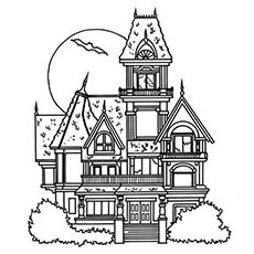 Free Haunted House Coloring Pages Free Printable Coloring Pages