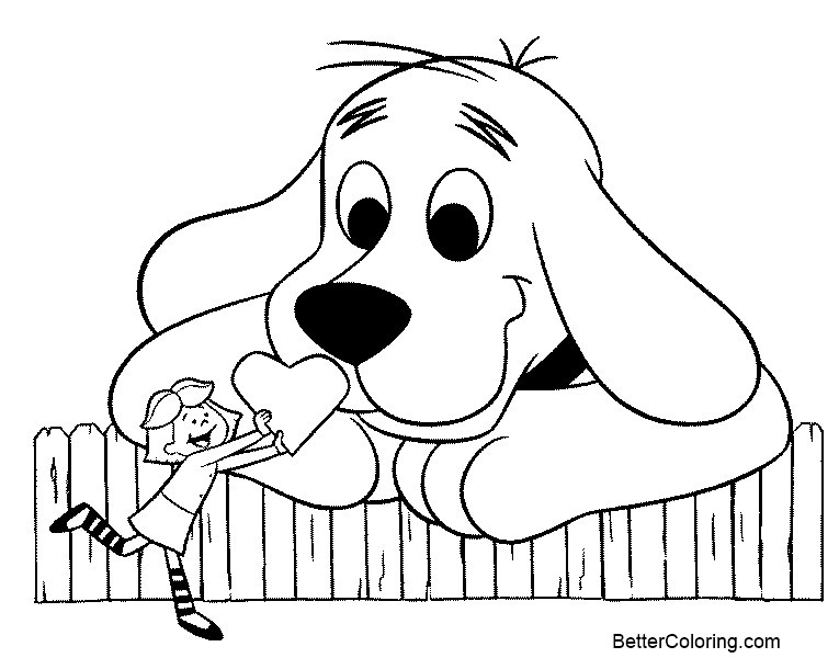 Free Printable Clifford Coloring Pages Heart Fence Poster ...