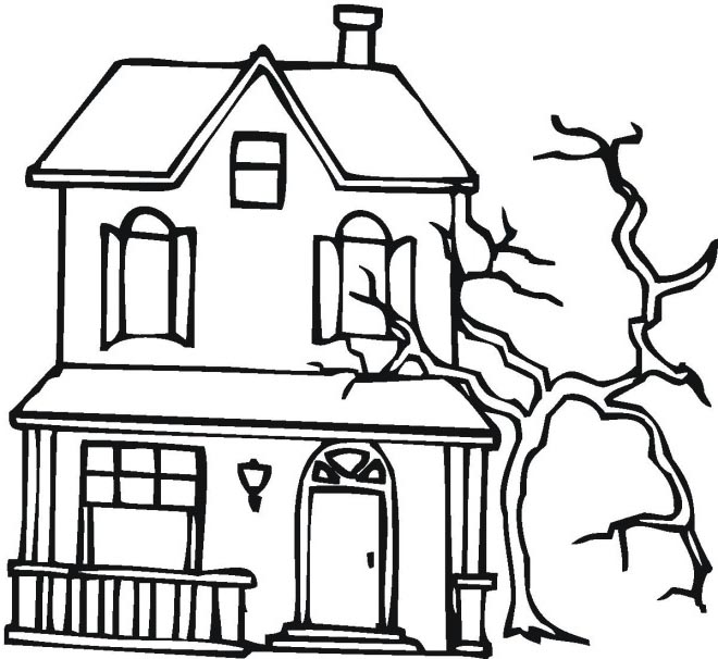 Free Printable Haunted House Coloring Pages For Preschool - Free ...