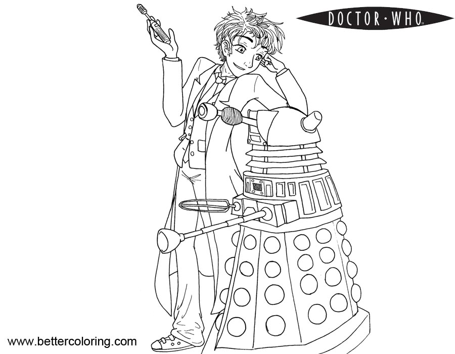 doctor who coloring pages for kids | Girl From Doctor Who Coloring Pages - Free Printable ...