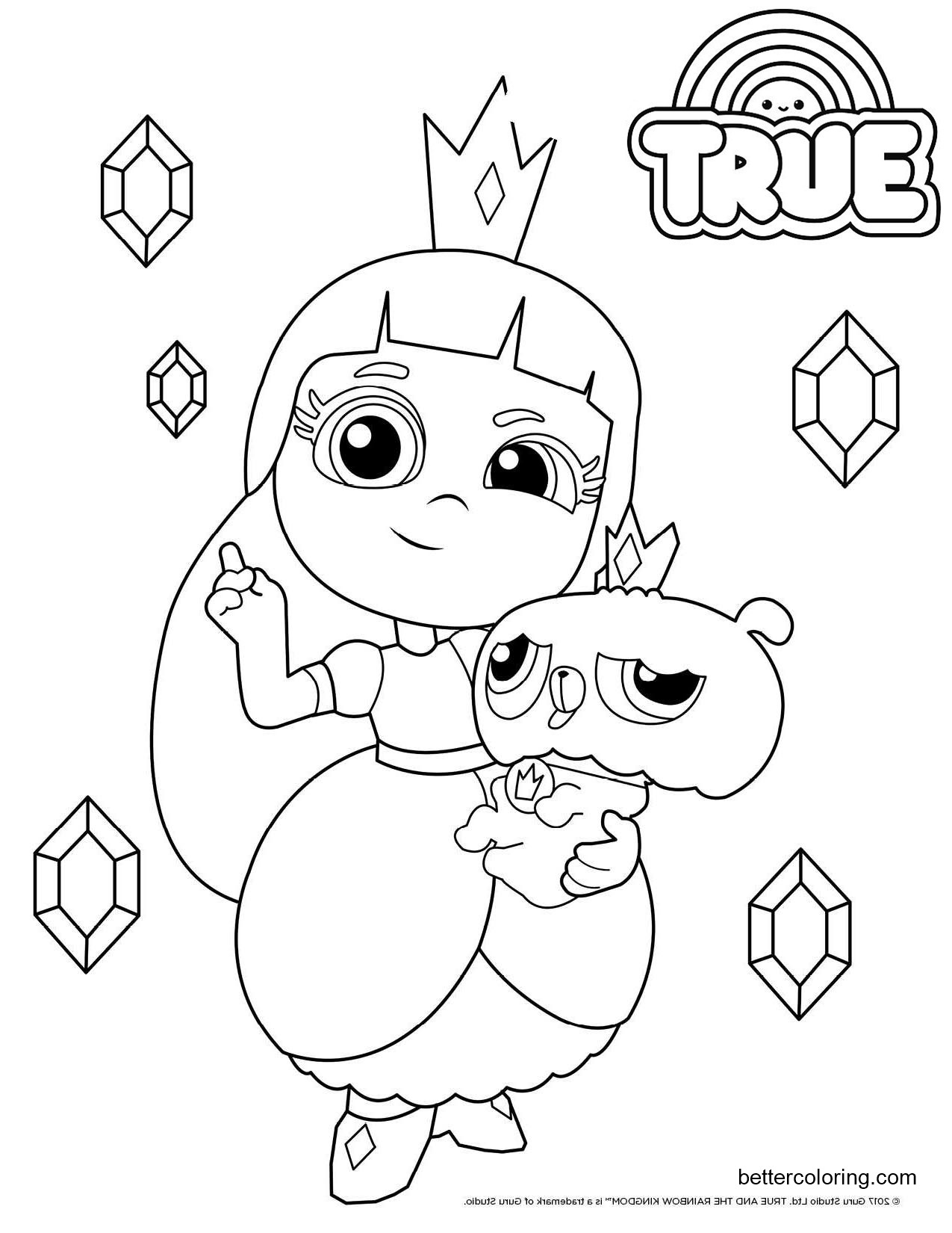 Free Grizelda and Frookie from True and the Rainbow Kingdom Coloring Pages printable