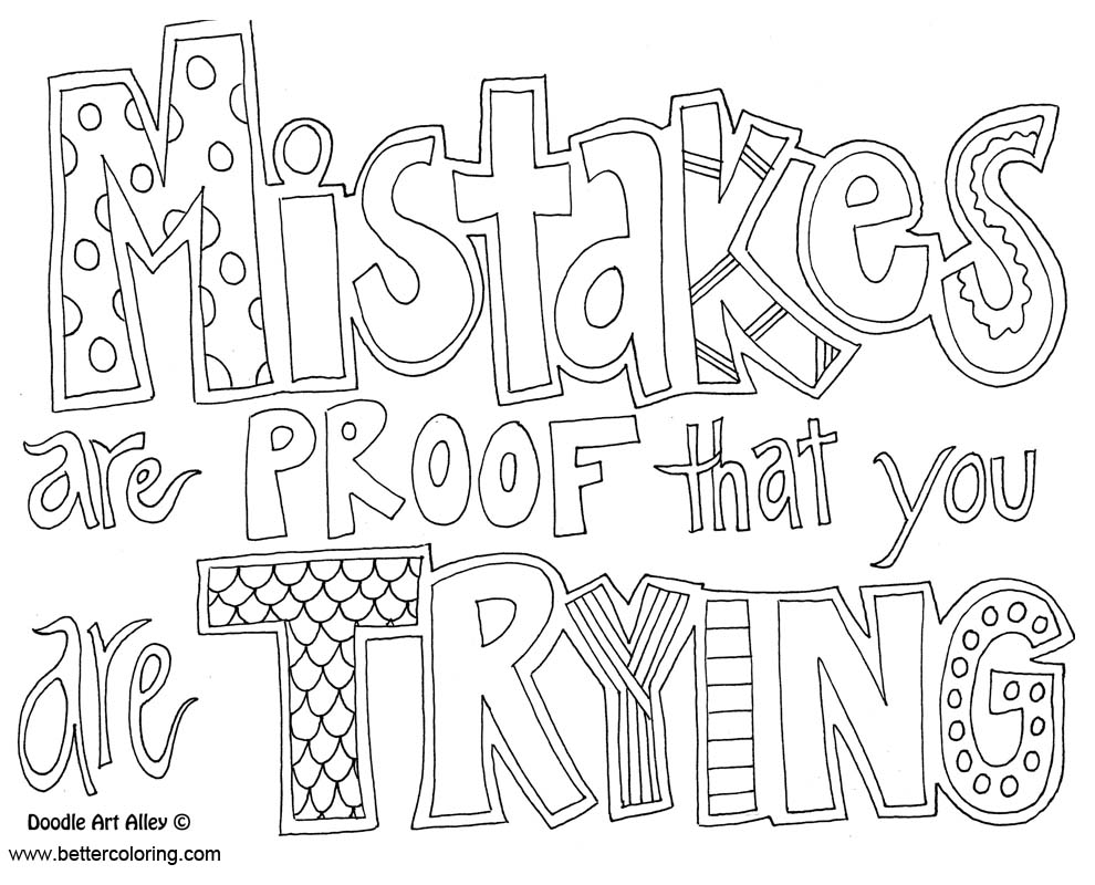 Free Growth Mindset Coloring Pages Black and White printable