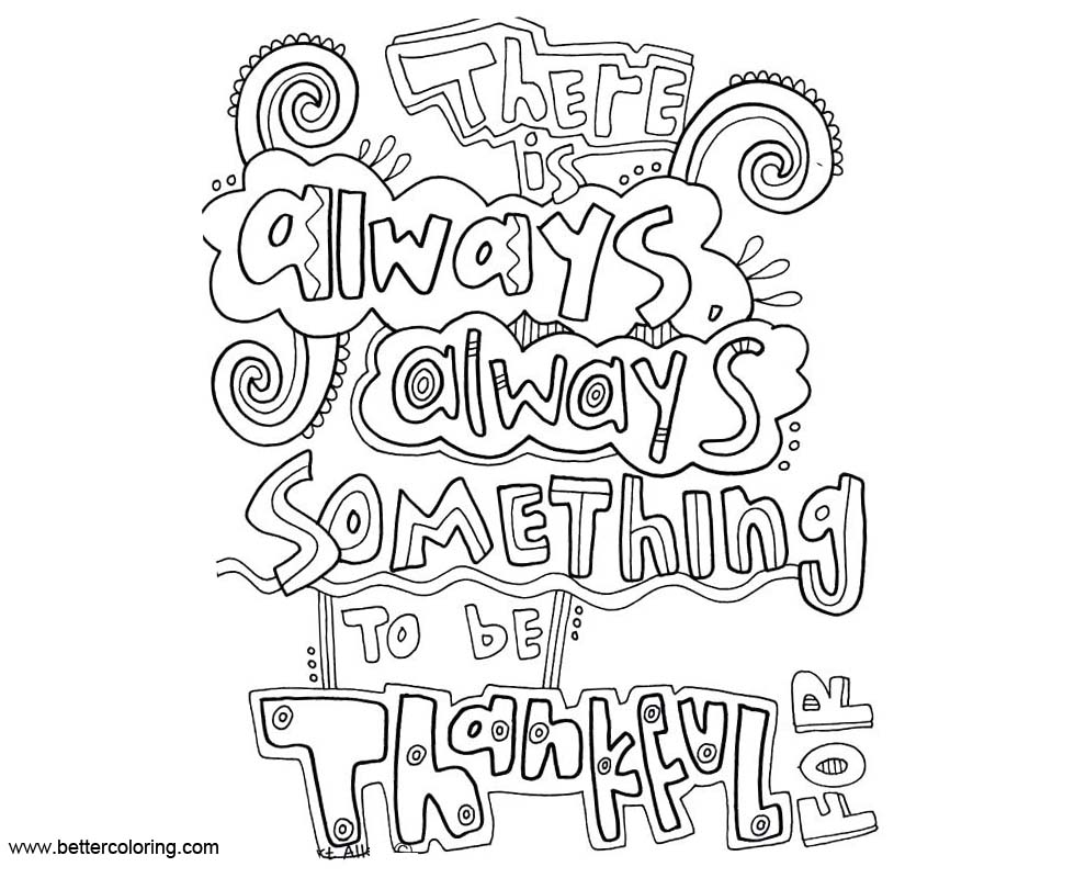 be thankful coloring pages | Growth Mindset Coloring Pages There Always Something To Be ...