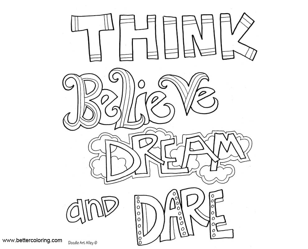 Growth Mindset Coloring Pages Think