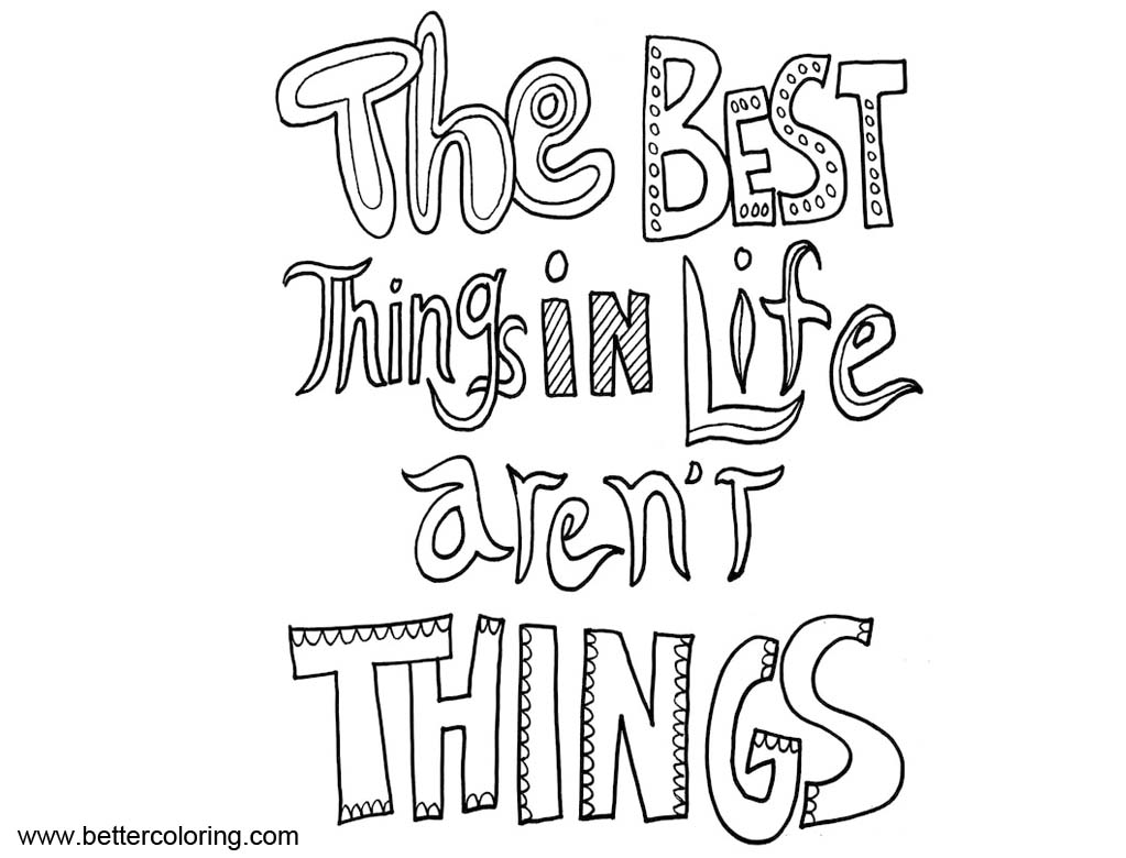 Growth Mindset Quotes Coloring Pages Best Things in Life