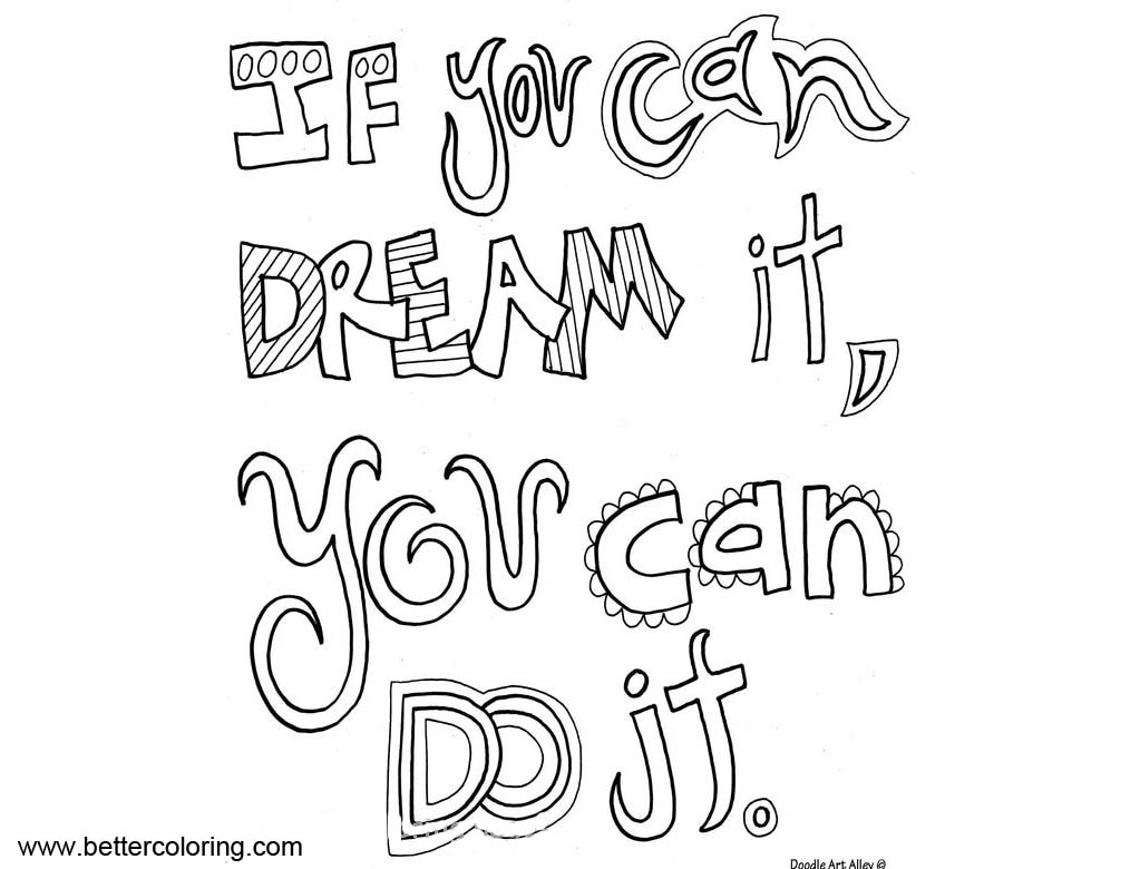 growth mindset quotes coloring pages if you can dream it you can do