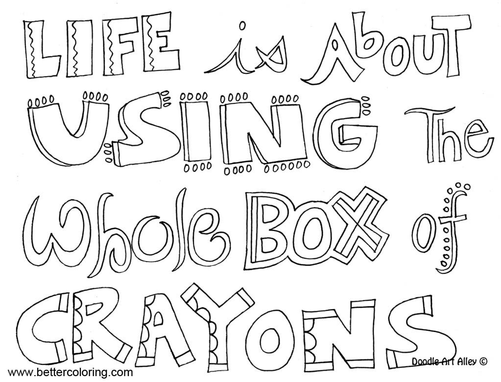 Growth Mindset Quotes Coloring Pages Life Is About Using The Whole