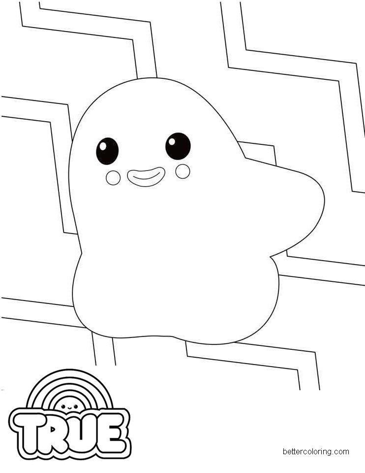 Free Growzer from True and the Rainbow Kingdom Coloring Pages printable