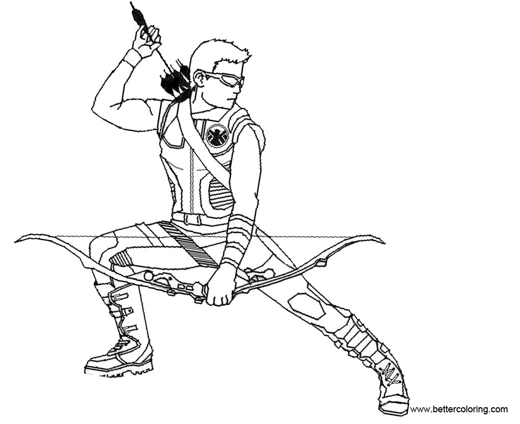 Hawkeye Coloring Pages Base by dark chocobo - Free ...