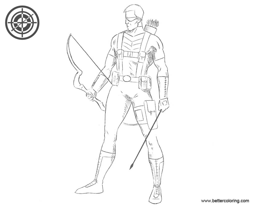 Free Hawkeye Coloring Pages Line Art printable