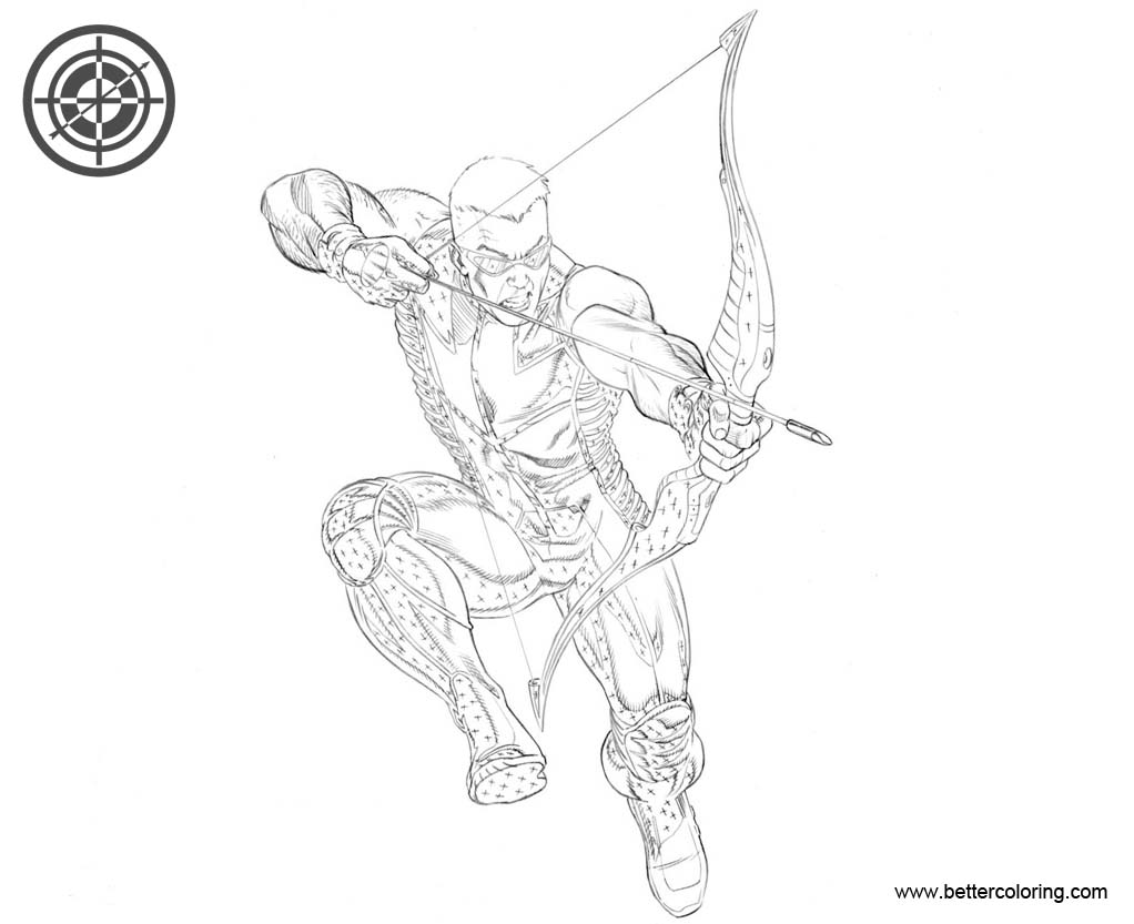 Free Hawkeye Coloring Pages MCP Hawkeye by BroHawk printable