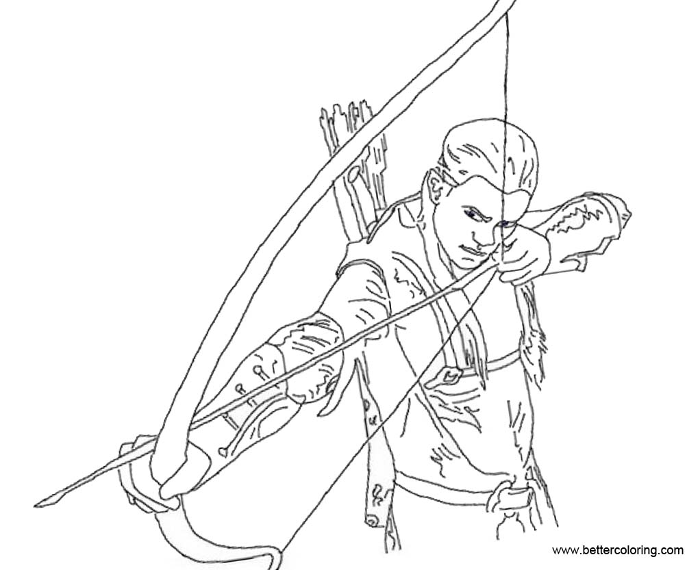 Hawkeye Coloring Pages Outline - Free Printable Coloring Pages