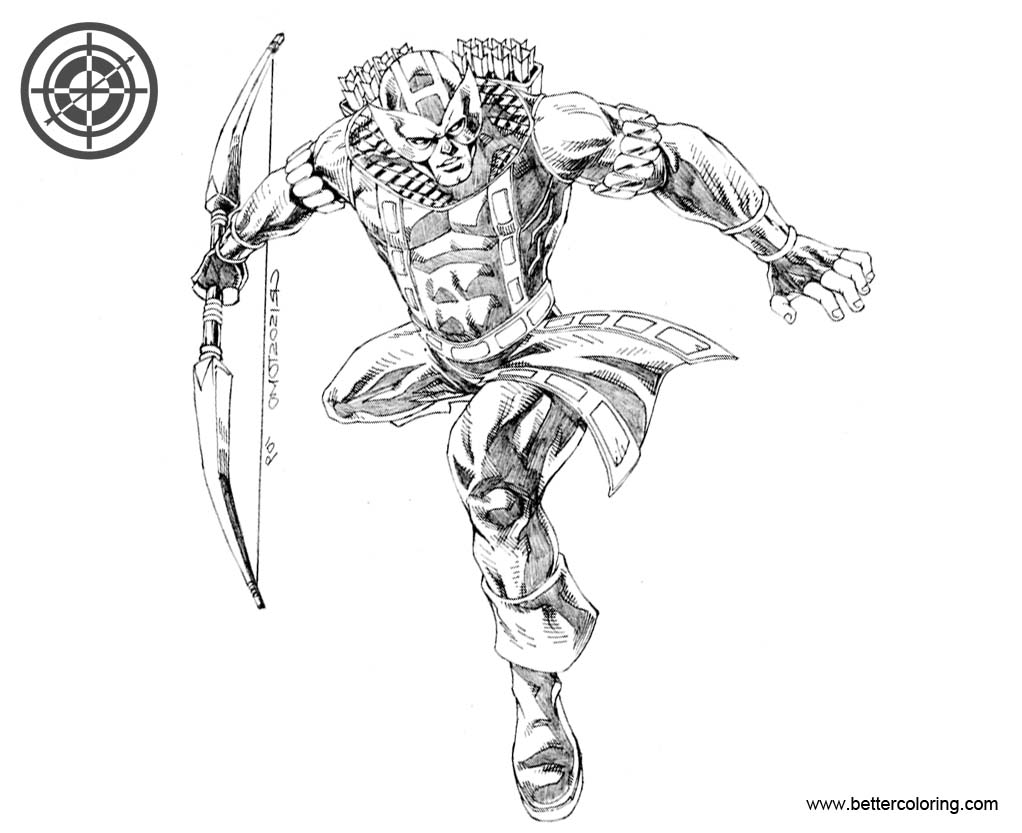 Hawkeye Coloring Pages by denart - Free Printable Coloring ...