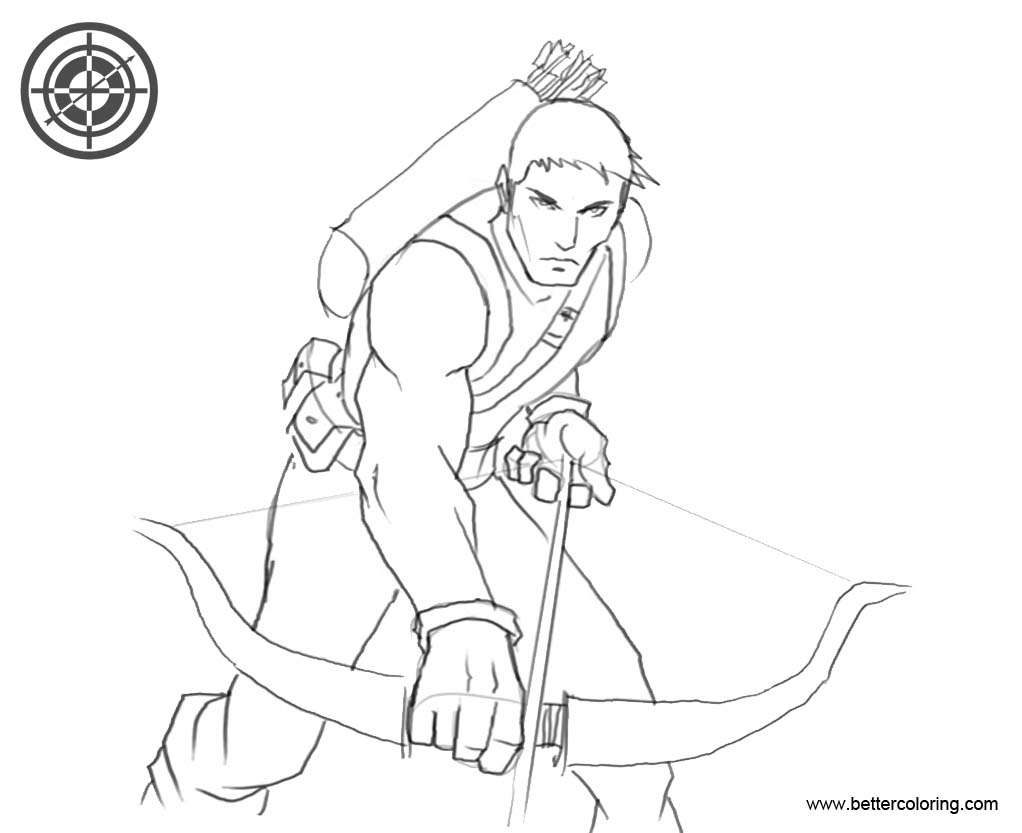 Hawkeye Coloring Pages from Avengers