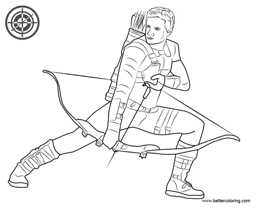 Hawkeye Coloring Pages from Captain
