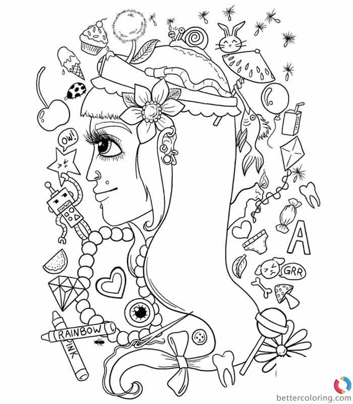 Hipster Coloring Pages Clipart Free Printable Coloring Pages