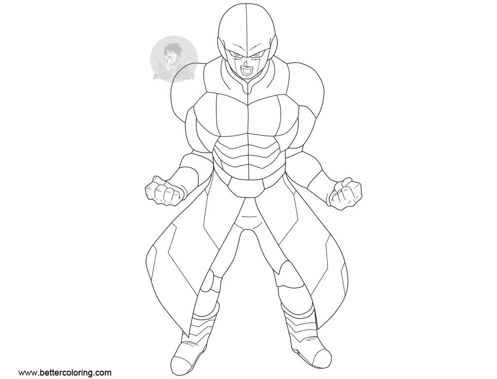 Hit from Dragon Ball Super Coloring Pages Free Printable