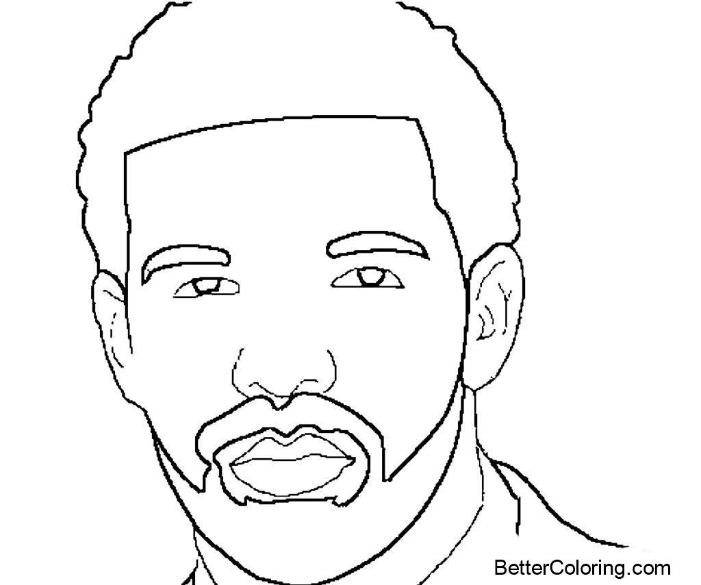 Free How to Draw Drake Coloring Pages printable