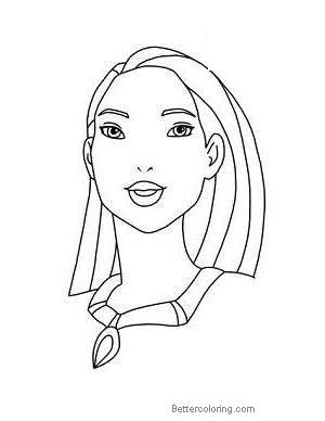 How To Draw Pocahontas Coloring Pages Free Printable Coloring Pages