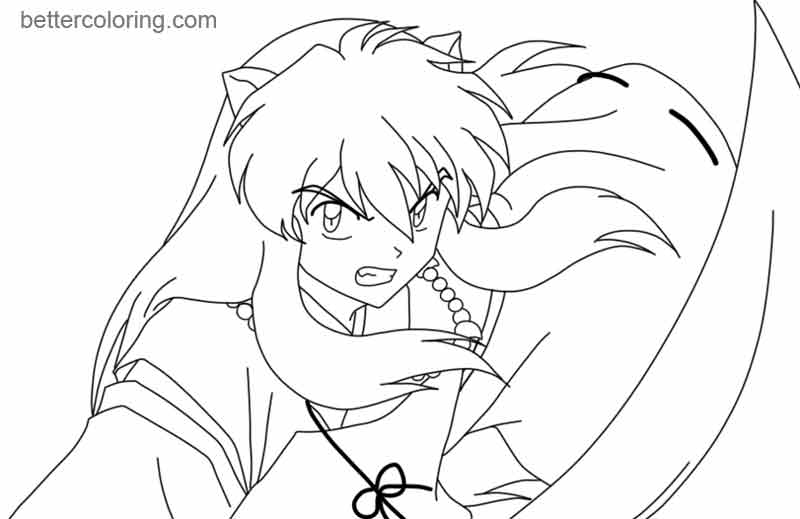 Free InuYasha Coloring Pages by saicross printable