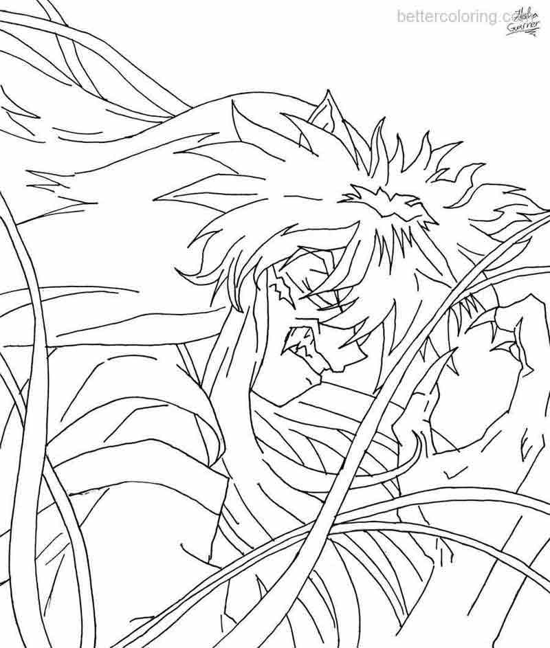 Free InuYasha Coloring Pages by suuki162006 printable