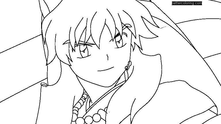 Free InuYasha Coloring Pages by toni987g printable