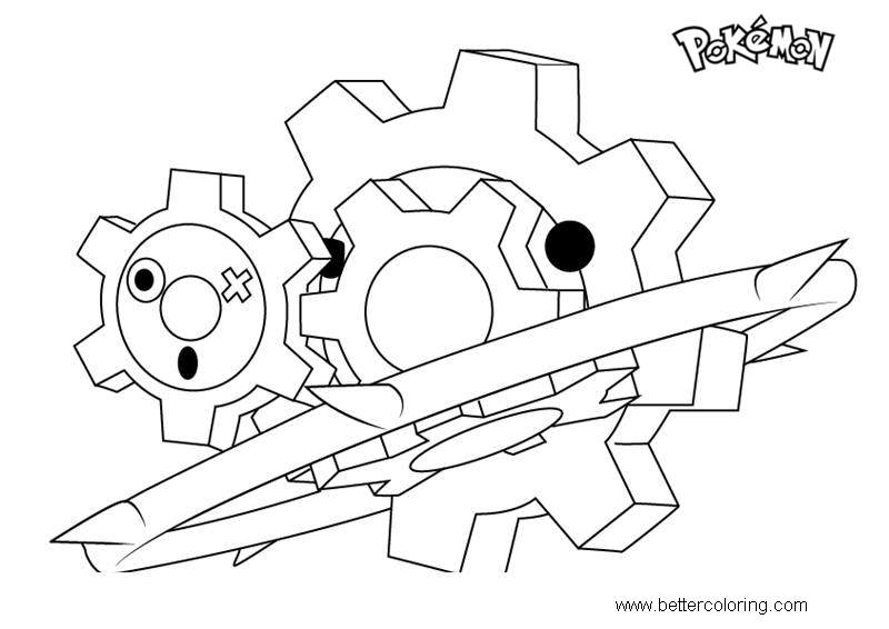 Free Klinklang from Pokemon Coloring Pages printable
