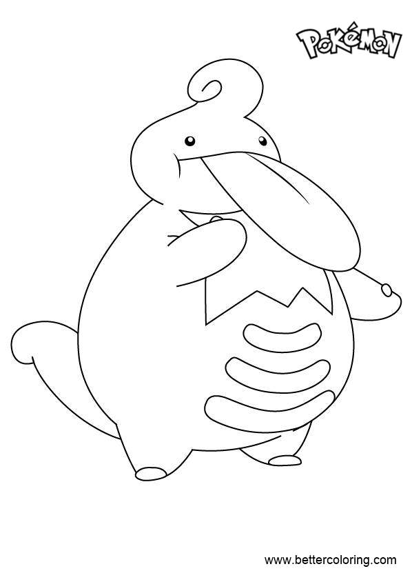 Free Lickilicky from Pokemon Coloring Pages printable