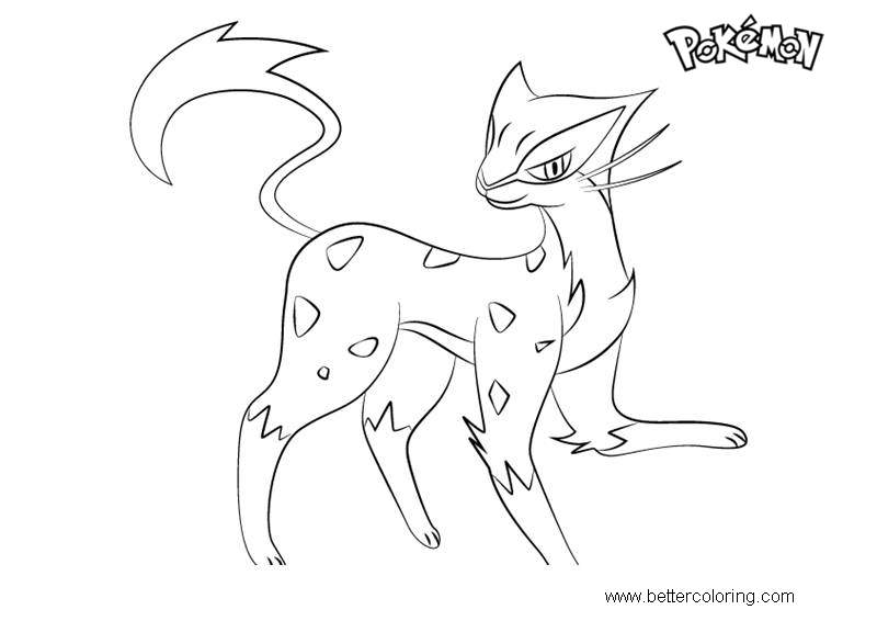 Free Liepard from Pokemon Coloring Pages printable