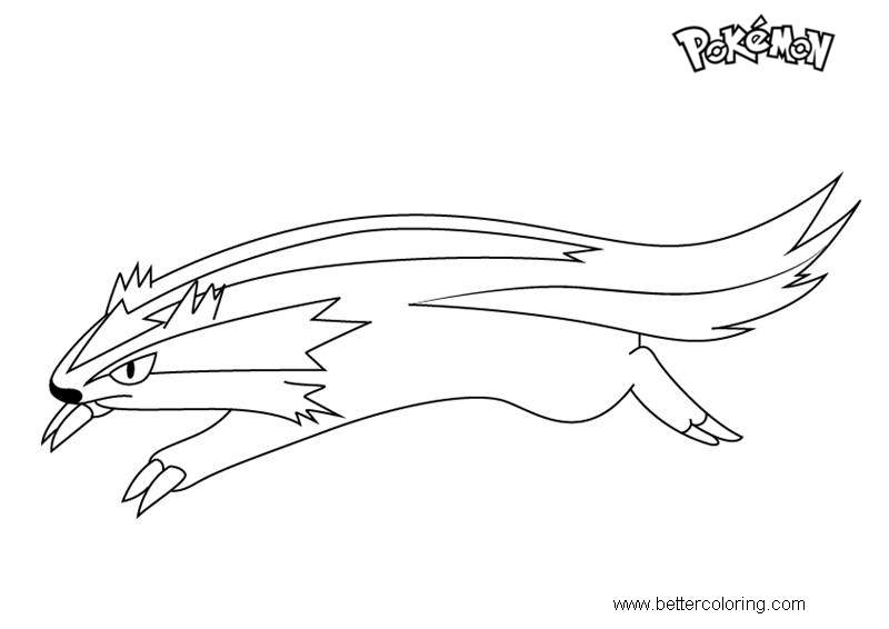 Free Linoone from Pokemon Coloring Pages printable