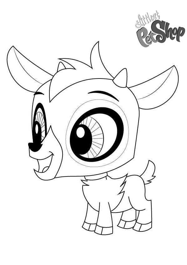 Littlest Pet Shop Coloring Pages Baa Baa Lou Free Printable