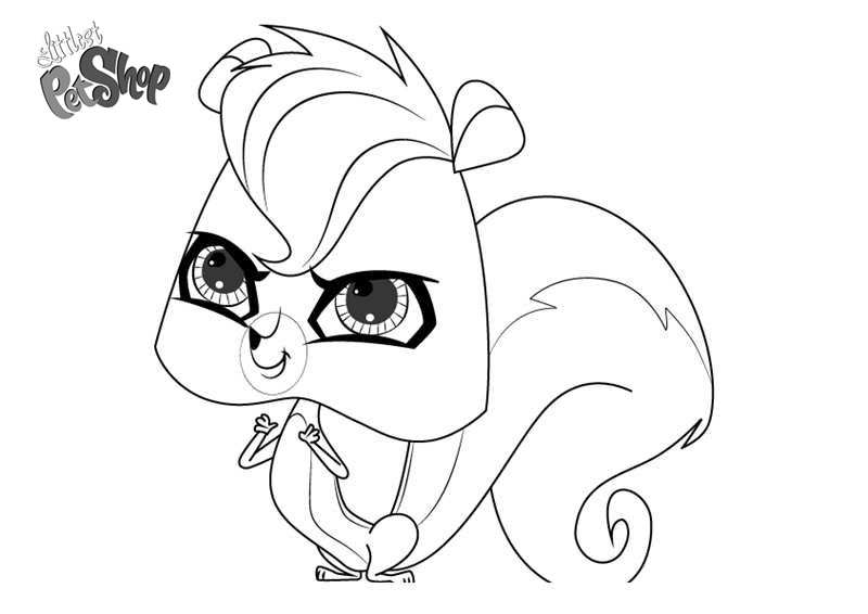 Free Littlest Pet Shop Coloring Pages Pepper Clark printable