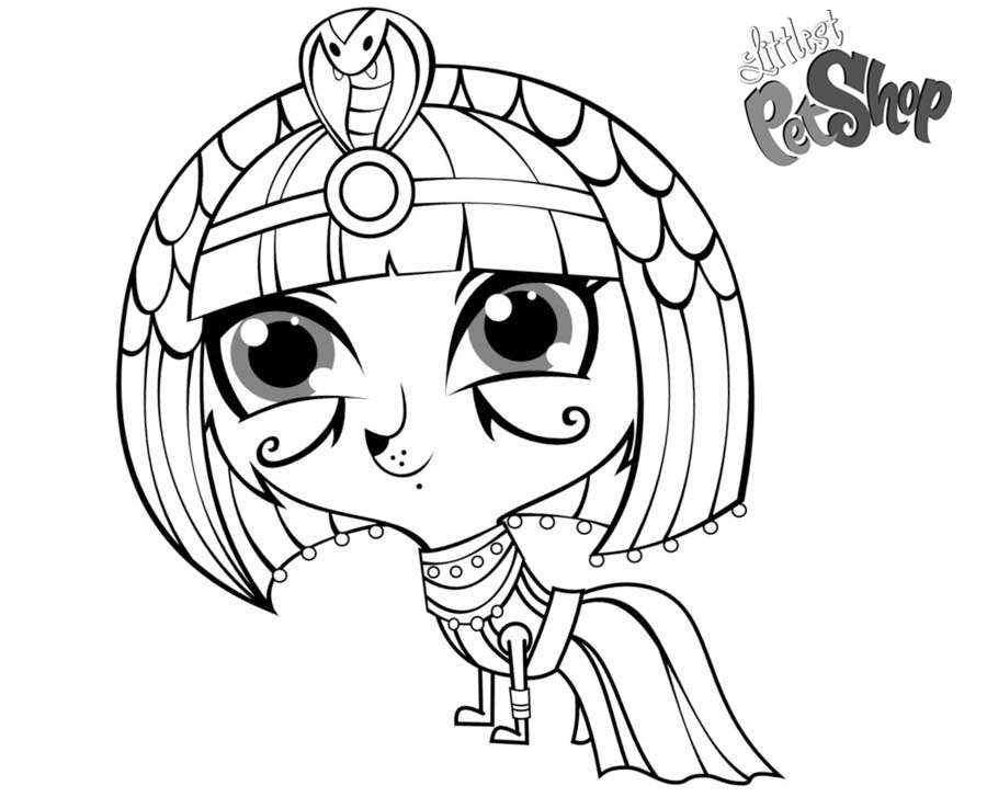 Free Littlest Pet Shop Coloring Pages Zoe Empress by Bob 97HTF printable