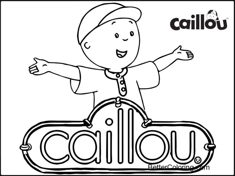 Logo of Caillou Coloring Pages - Free Printable Coloring Pages