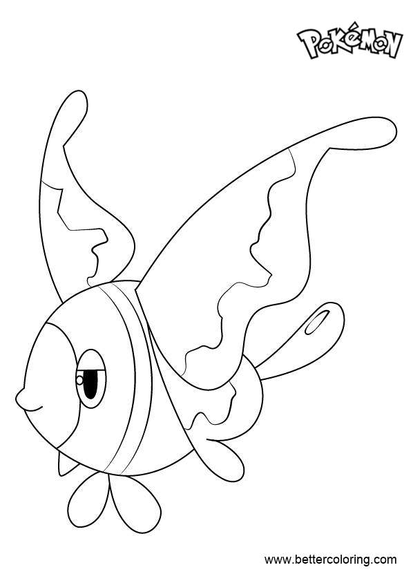Free Lumineon from Pokemon Coloring Pages printable