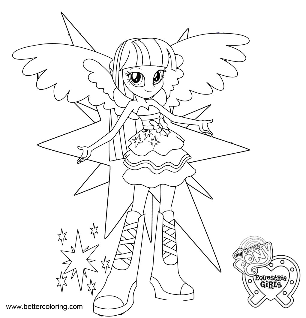 MLP Equestria Girls Coloring Pages Twilight Sparkle - Free Printable ...